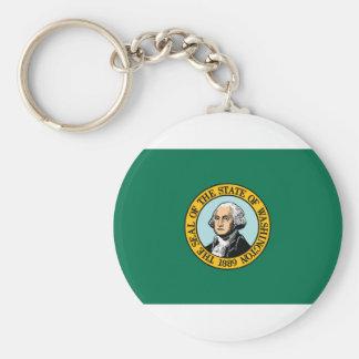 Flag Of Washington Keychain