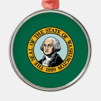 Flag Of Washington Metal Ornament