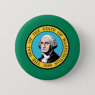 Flag of Washington State 2 Inch Round Button