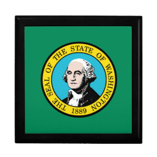 Flag of Washington State Jewelry Boxes