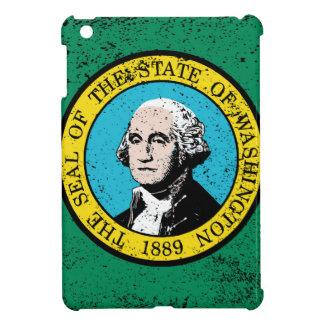 Flag of Washington State With Grunge iPad Mini Cover