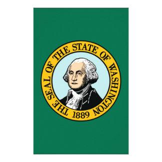 Flag Of Washington Stationery