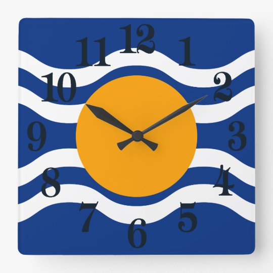 Flag of West Indies Federation Square Wall Clock
