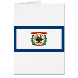 Flag Of West Virginia Card