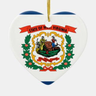 Flag Of West Virginia Ceramic Ornament