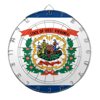 Flag Of West Virginia Dartboard