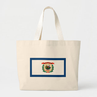 Flag Of West Virginia Large Tote Bag