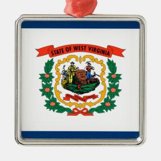 Flag Of West Virginia Metal Ornament