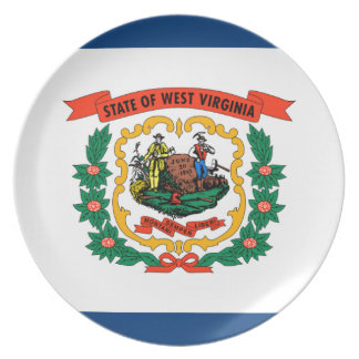 Flag Of West Virginia Plate