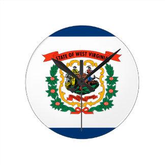 Flag Of West Virginia Round Clock