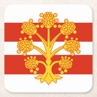 Flag of Westmorland Square Paper Coaster
