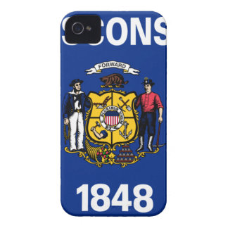Flag Of Wisconsin iPhone 4 Case-Mate Case