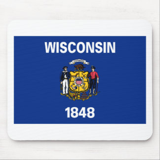 Flag Of Wisconsin Mouse Pad