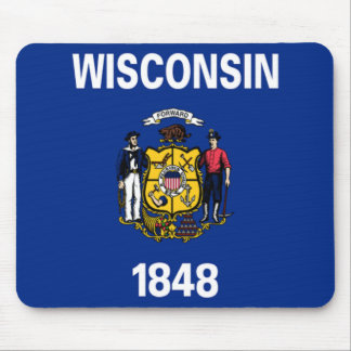 Flag of Wisconsin Mousepads