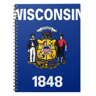 Flag Of Wisconsin Notebook