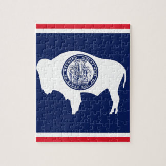Flag Of Wyoming Jigsaw Puzzle