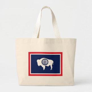 Flag Of Wyoming Large Tote Bag