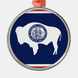 Flag Of Wyoming Metal Ornament
