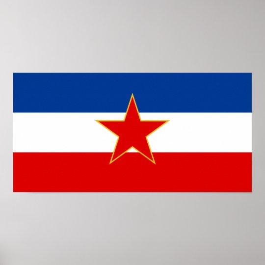 Flag of Yugoslavia (1945-1992) Poster