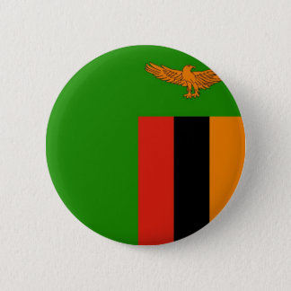 Flag of Zambia on Pin / Button Badge