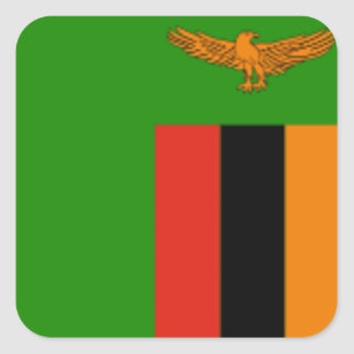 Flag of Zambia Square Stickers