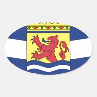 Flag of Zeeland Oval Sticker