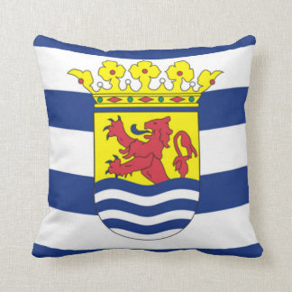 Flag of Zeeland Throw Pillow
