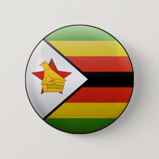 Flag of Zimbabwe 2 Inch Round Button