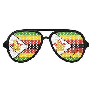 Flag of Zimbabwe Africa Aviator Sunglasses