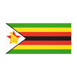 Flag of Zimbabwe Africa Canvas Print