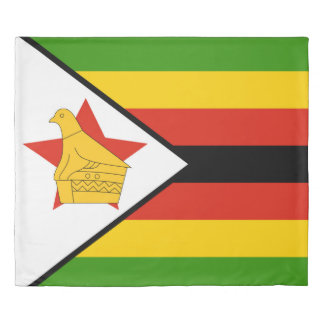 Flag of Zimbabwe Africa Duvet Cover