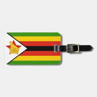 Flag of Zimbabwe Africa Luggage Tag