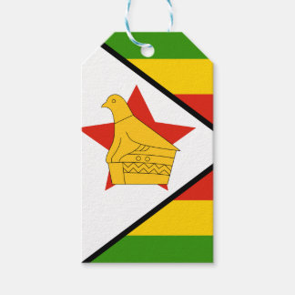 Flag of Zimbabwe Africa Pack Of Gift Tags