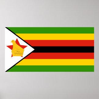 Flag of Zimbabwe Africa Poster