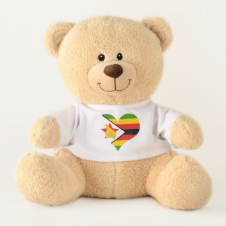 Flag of Zimbabwe Africa Teddy Bear