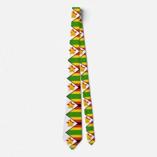 Flag of Zimbabwe Africa Tie