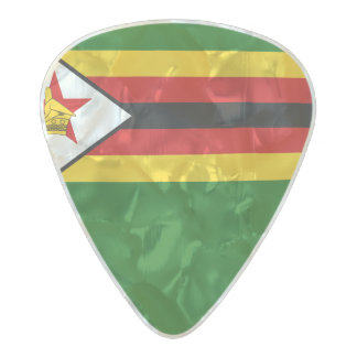 Flag of Zimbabwe Guitar Picks Pearl Celluloid Guitar Pick