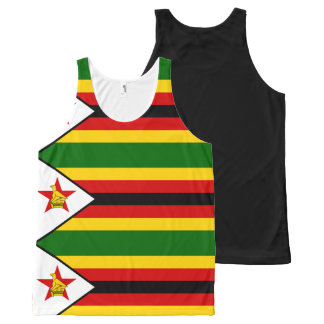 Flag of Zimbabwe - Zimbabwean - Mureza weZimbabwe All-Over-Print Tank Top