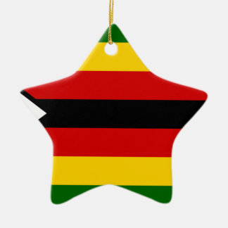 Flag of Zimbabwe - Zimbabwean - Mureza weZimbabwe Ceramic Ornament