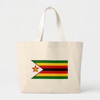 Flag of Zimbabwe - Zimbabwean - Mureza weZimbabwe Large Tote Bag