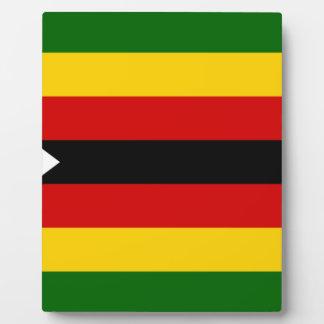 Flag of Zimbabwe - Zimbabwean - Mureza weZimbabwe Plaque
