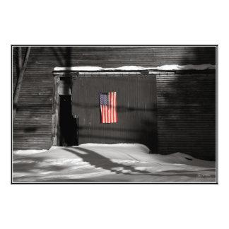 Flag on a Wentworth Barn Open edition print