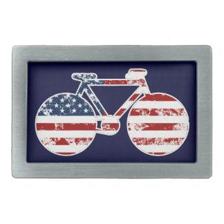 flag patriotic United States of America bicycle Belt Buckles