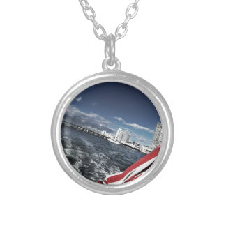 flag Personalized Custom Car Truck Auto Silver Plated Necklace
