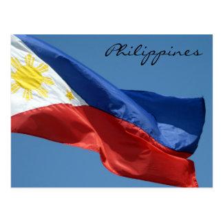 flag philippines postcard
