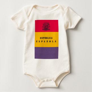 Flag Republic of Spain - Bandera República España Baby Bodysuit