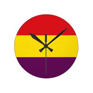 Flag Republic of Spain - Bandera República España Clocks