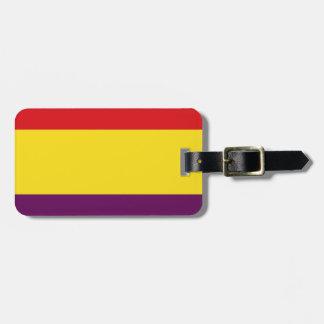 Flag Republic of Spain - Bandera República España Luggage Tag