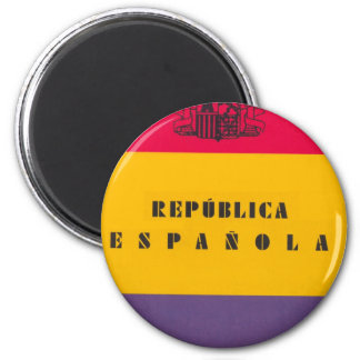 Flag Republic of Spain - Bandera República España Magnet