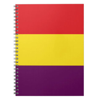 Flag Republic of Spain - Bandera República España Spiral Notebook